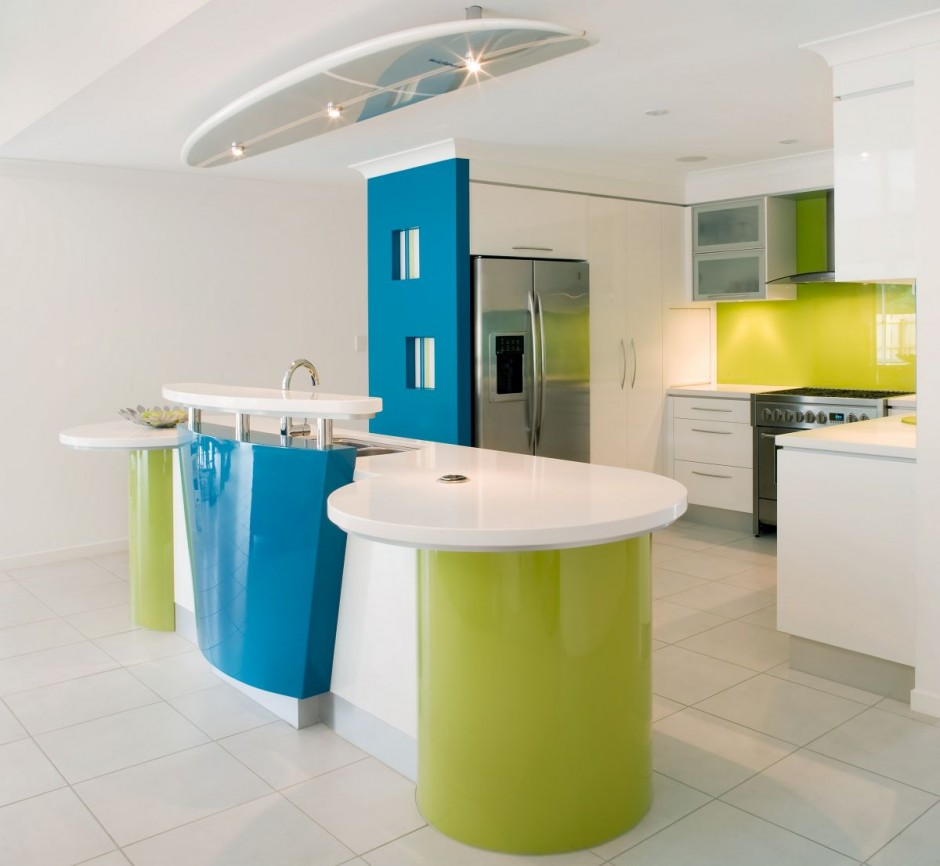 Cocina minimalista disarcon Kitchen colour design tips